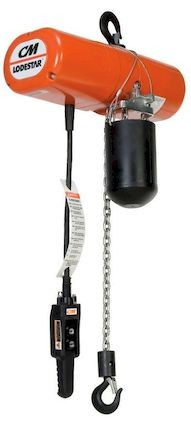 CM Lodestar Model L 3525 1 ton Electric Chain Hoist