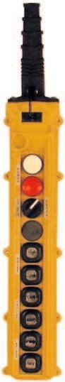 10 Button L Series L10 Push Button Pendant Station by Duct-O-Wire