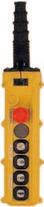 6 Button L Series L6 Push Button Pendant Station by Duct-O-Wire