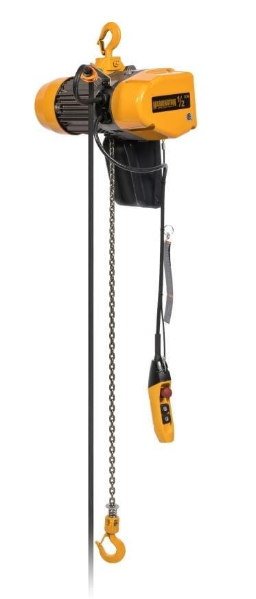 1/8 Ton Harrington EQ Electric Chain Hoist Dual Speed VFD