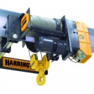 Harrington RHN Series Wire Rope ultra-low headroom trolley hoist