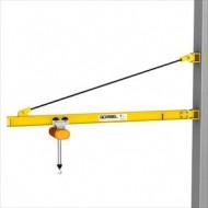 Gorbel 1/2 Ton Wall Bracket Jib Crane 23 Foot Span - In Stock