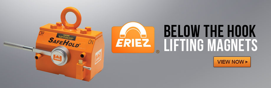 Eriez Safehold Permanent Lifting Magnets for hoist and cranes